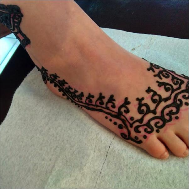 Henna Fun and Thanks!